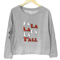 Bethany Mota Fa La La La La Y'all Sequin Ugly Christmas Sweatshirt