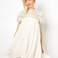 BUD SILK JOINING TOGETHER HIGH-GRADE CHIFFON DRESS IRREGULAR DRESS
