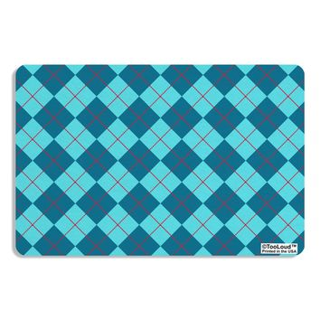 Blue Argyle AOP Placemat All Over Print by TooLoud