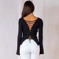 Sweater Knit Tops Winter V-neck Slim Pullover Jacket [11899492815]