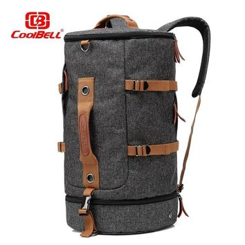 Cool Backpack school Men's Casual Fashion high end trip Canvas Travel Bags Large Capacity Vintage Luggage cool Travel Duffle Big backpack package AT_52_3