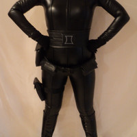 MJCREATION costume all leather black widow inspiration made to order handmade custom made