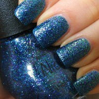 Nicole by OPI Nail Polish Kendall On The Katwalk Blue Green Purple Glitter Navy