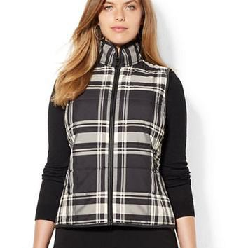 Lauren Ralph Lauren Plus Quilted Plaid Vest
