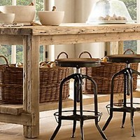 Salvaged Wood Kitchen Island | Restoration Hardware