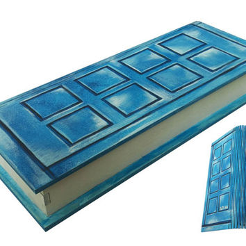 Book Box Doctor Who Theme River Song Journal Wooden Jewelry Box storage organizer Keepsake Box Gift Box Art Hand Painted Accessory fan gift
