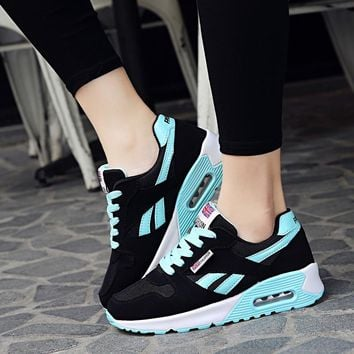 Women shoes 2018 fashion spring PU leather flats ladies sport shoes woman sneakers tenis feminino casual laces shoes