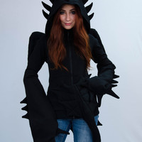 "Hoodie ""Night Fury"", inspired by dragon toothless"