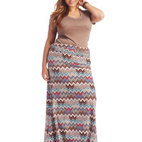 Super Soft Chevron Maxi Skirt | Wet Seal