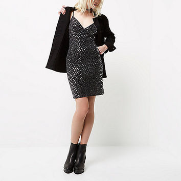 Petite black sparkly star bodycon dress - Dresses - Sale - women