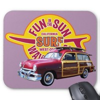 Classic American Surf Car Mouse Pad
