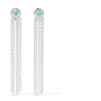 SCOSHA - Wondersun Shower silver turquoise earrings