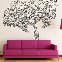 Vinyl Wall Decal Sticker Flower Tree #1498