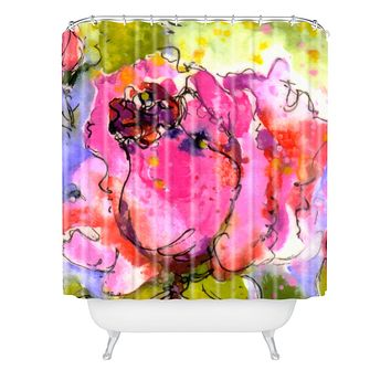 Ginette Fine Art Rose Bud Shower Curtain