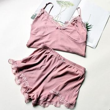 Women's Two Piece Cotton Pajama Set
