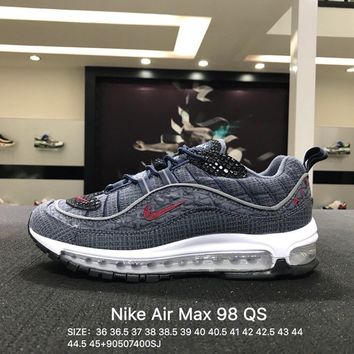 Virgil Abloh x Nike Air Max 98 Gray White Sports Running Shoes Sneaker
