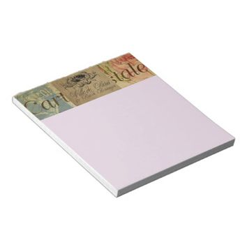French Postcard Note Pad