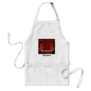 Grill Masters Are Born In October Personalized Adult Apron
