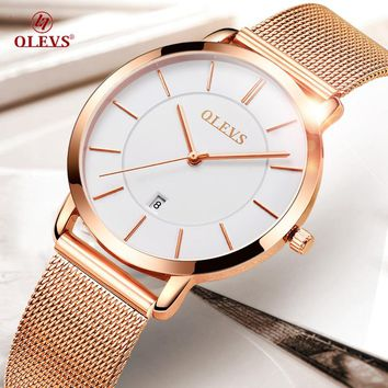 Stainless Steel Mesh Strap Women 's Watches