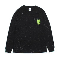 WE OUT HERE REFLECTIVE L/S (Black)