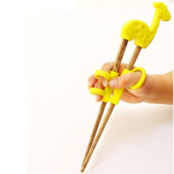 Children Practicing Chopsticks Chicken Wings Chopsticks Wooden-assisted Chopsticks