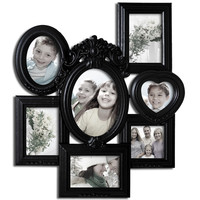 Decorative Black Polyresin Highly Detailed Wall Hanging Collage Picture Photo Frame