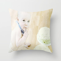 Mmmm Cake Throw Pillow by  Alexia Miles Photography