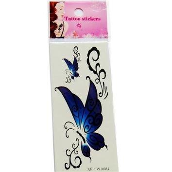 Tattoo Sticker  1PC Waterproof Temporary  3D Butterfly Flower