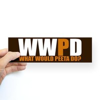 What Would Peeta Do Bumper Sticker on CafePress.com