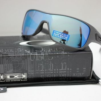 NEW OAKLEY TURBINE ROTOR POLARIZED SUNGLASSES | STEEL / PRIZM DEEP H2O | 9307-09