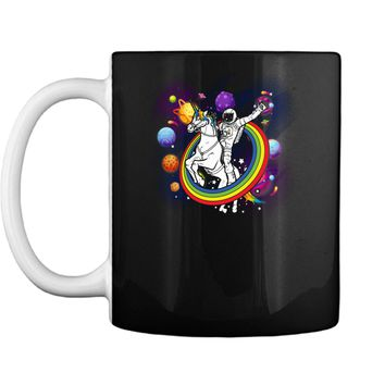 Astronaut Riding Unicorn Funny Space Galaxy Travel T-Shirt Mug