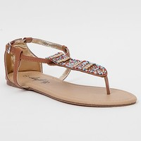 Women's Cas Sandal in Brown by Daytrip.