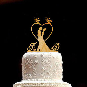 Wedding Cake Topper Wedding Topper bride and groom Rustic Wedding Topper Mr and Mrs Cake Topper