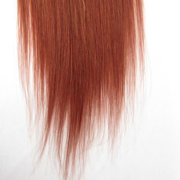 hair Extensions 7pcs Concessional (#33 rich copper red) Straight Clip In Human Hair Full Head set mongolian remy hair