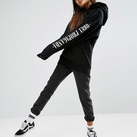 Obey Oversized Boyfriend Hoodie With Propaganda Sleeve Print at asos.com