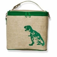 Green Dino Small Cooler Bag