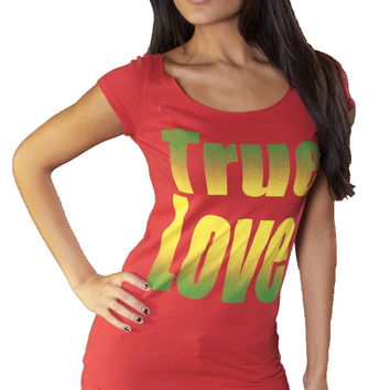 Ed Hardy True Love Tee Red