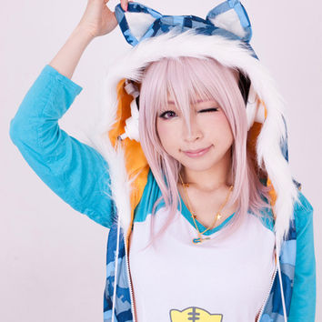 SoniComi Super Sonico Tiger Cosplay Set