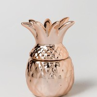 Rose Gold Pineapple Trinket Box