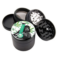 "Star Weed Darth Bong - 2.25"" Premium Black Herb Grinder - Custom Designed"