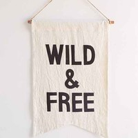 Secret Holiday & Co. X UO Wild Banner- Black & White One