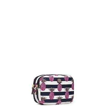 Tory Burch Printed Nylon Small Double-zip Cosmetic Case