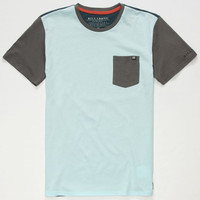Billabong Zenith Boys Pocket Tee Blue Combo  In Sizes