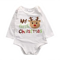 Christmas-Deer First Christmas Romper