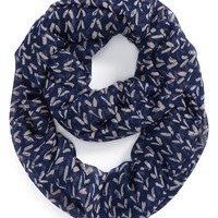 Junior Women's BP. Mini Chevron Infinity Scarf - Blue