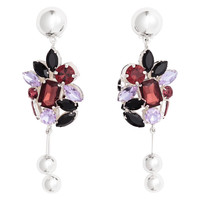 Silver-plated earrings - Silver-coloured/Purple - Ladies | H&M GB