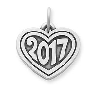 """Heart with """"2017"""" Charm 