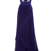 Halter Neck Gown With Cut Out Bodice by J. Mendel - Moda Operandi