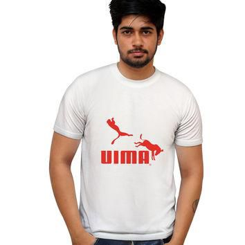 Uima red Puma Parody Illustration T-Shirt
