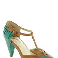 Seychelles All Dressed Up Heel in Matte Jade | Mod Retro Vintage Heels | ModCloth.com